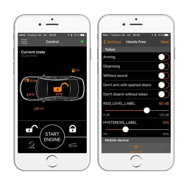 auto alarm pandora mini
